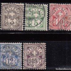 Sellos: SUIZA , 1905 - 1907 YVERT Nº 101 , 102 , 103 , 104 , 105 , . Lote 105667875