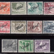Sellos: SUIZA , OFICIAL 1950 YVERT Nº 285 / 295 . Lote 105668451