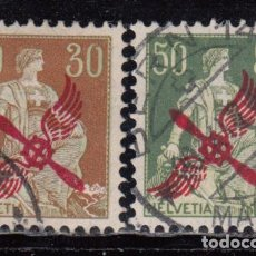 Sellos: SUIZA , AÉREO 1919 - 1920 YVERT Nº 1 / 2 . Lote 105672075