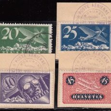 Sellos: SUIZA , AÉREO 1923 - 1933 YVERT Nº 3 / 9 . Lote 105673579