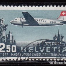 Sellos: SUIZA , AÉREO 1947 YVERT Nº 41. Lote 105675179