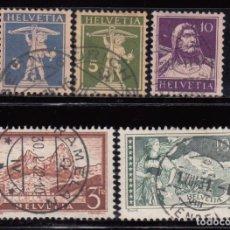 Sellos: SUIZA , 1930 - 1931 YVERT Nº 241 / 245. Lote 105749295