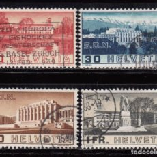 Sellos: SUIZA , 1938 YVERT Nº 307 / 310 . Lote 105754679