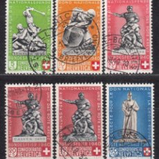 Sellos: SUIZA , 1939 YVERT Nº 349 / 353 , 351 A . Lote 105759155