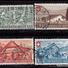 Sellos: SUIZA , 1945 YVERT Nº 419 / 422. Lote 105763819