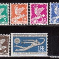 Sellos: SUIZA , 1932 YVERT Nº 254 / 259 / ** / . Lote 105934431