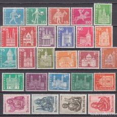 Sellos: SUIZA , 1960 - 1963 YVERT Nº 643 / 660 F / ** / . Lote 105939199