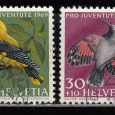 Sellos: SUIZA , YVERT Nº 846 / 849 , AVES . Lote 113519503