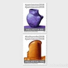 Sellos: SWITZERLAND 2018 - #CULTURALHERITAGE2018 STAMP SET MNH. Lote 117933855