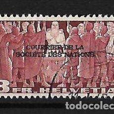 Sellos: SUIZA 1944 SERVICIO SELLO DE 1938 CON SOBRECARGA. Lote 115231939