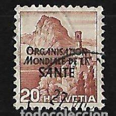Sellos: SUIZA 1948 SERVICIO SELLO DE 1938-48 CON SOBRECARGA. Lote 115232219
