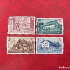 Sellos: SUIZA 1949, YVERT 477-80, MNH-SC. Lote 115353299
