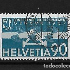 Sellos: SUIZA 1932 CORREO AÉREO CONFERENCIA DE DESARME DE GINEBRA FINAL DE SERIE. Lote 118182139