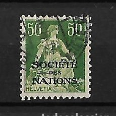 Sellos: SUIZA 1922-23 SERVICIO SELLOS DE 1907-17 CON SOBRECARGA, SOCIEDAD DE NACIONES. Lote 118246375