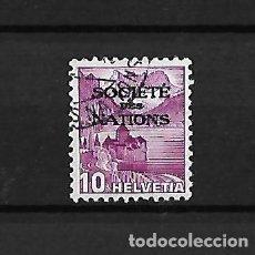 Sellos: SUIZA. 1937 SERVICIO SELLO DE 1936 SOCIEDAD DE NACIONES. Lote 118246799