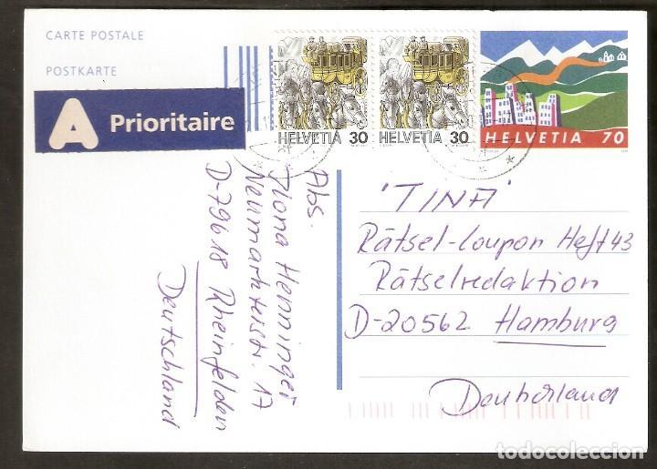 SUIZA. ENTERO POSTAL. 1996. (Sellos - Extranjero - Europa - Suiza)