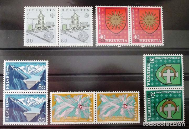 Sellos: Suiza, 20 sellos nuevos, sin charnela, en 10 parejas. - Foto 2 - 128458275