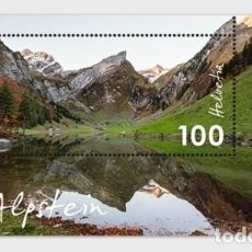 Sellos: SWITZERLAND 2018 - TYPICAL SWISS COUNTRYSIDE - ALPSTEIN SHEET MNH. Lote 132681318