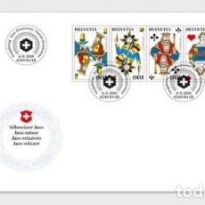 Sellos: SWITZERLAND 2018 - SWISS JASS FDC. Lote 132684406