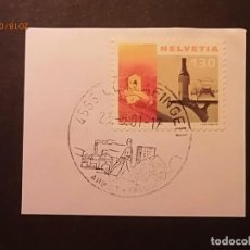 Sellos: SUIZA 2000 - VINO - IGLESIA - OBRERO DE LA CONSTRUCCIÓN DE EDIFICIOS.. Lote 134884014