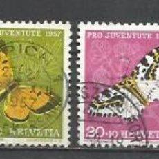 Sellos: Q500G-SERIE COMPLETA SUIZA HELVETIA PRO JUVENTUTE 1957 Nº597/1.VALOR 9,00€ YVERT ENVIOS COMBINADOS S. Lote 136049574