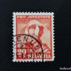 Sellos: SUIZA , 1942 , YVERT 382. Lote 136354082