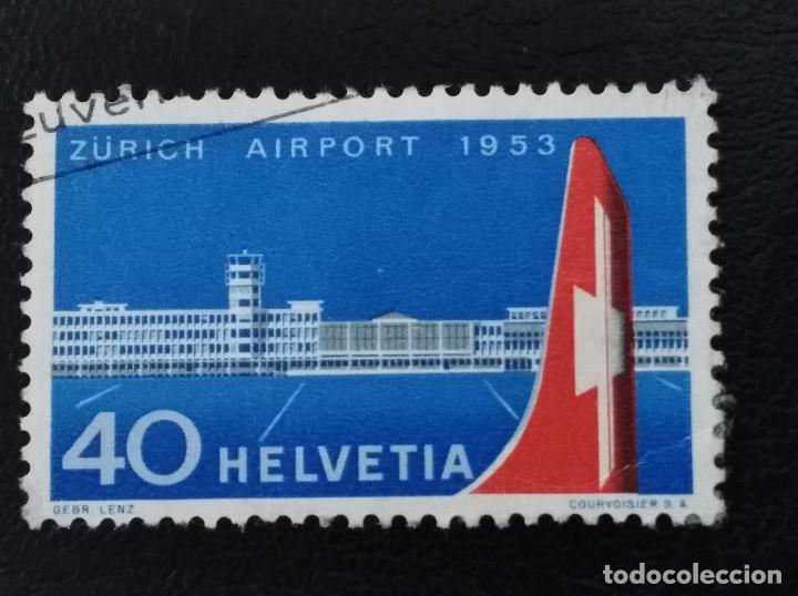 SUIZA , 1953 , YVERT 536 AVIÓN (Sellos - Extranjero - Europa - Suiza)