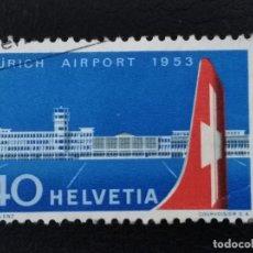 Sellos: SUIZA , 1953 , YVERT 536 AVIÓN. Lote 136355286
