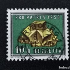 Sellos: SUIZA , 1958 , YVERT 607 MINERALES. Lote 136355662