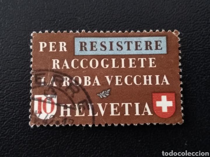 SUIZA, 1942, YVERT 376, ADELGAZADO (Sellos - Extranjero - Europa - Suiza)