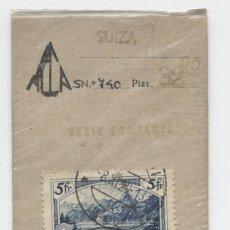 Sellos: SUIZA & PAISAJES DE MONTAÑA 1914-1931 5FR.. Lote 137902906