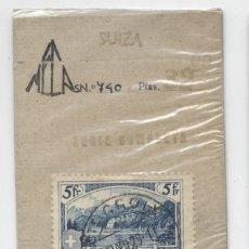 Sellos: SUIZA & PAISAJES DE MONTAÑA 1914-1931 5FR.. Lote 137902986