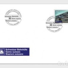Sellos: SWITZERLAND 2018 - SWISS RAILWAY STATIONS FDC. Lote 138066118