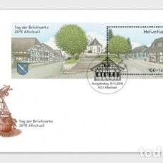 Sellos: SWITZERLAND 2018 - STAMP DAY 2018 ALLSCHWIL FDC. Lote 138067254