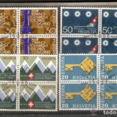 Sellos: SUIZA.1968. YV 803/806. Lote 139634290