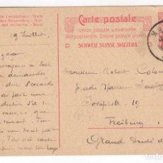 Sellos: 1909 ENTERO POSTAL SUIZA CIRCULADA - SWITZERLAND - SUISSE. Lote 140486274