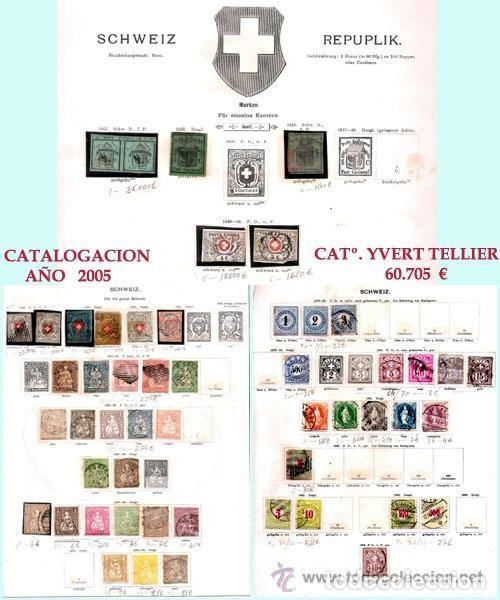 SUIZA.- RESTO DE COLECCION PARTE CLASICA EN USADO DE 1843 A 1889. CAT.+ 60.705 €. AÑO 2005 (Sellos - Extranjero - Europa - Suiza)