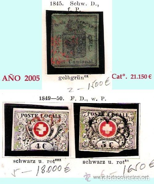 Sellos: SUIZA.- RESTO DE COLECCION PARTE CLASICA EN USADO DE 1843 A 1889. Cat.+ 60.705 €. Año 2005 - Foto 3 - 140787690