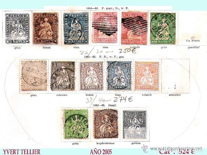 Sellos: SUIZA.- RESTO DE COLECCION PARTE CLASICA EN USADO DE 1843 A 1889. Cat.+ 60.705 €. Año 2005 - Foto 5 - 140787690