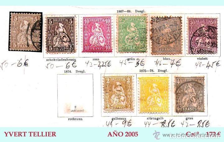 Sellos: SUIZA.- RESTO DE COLECCION PARTE CLASICA EN USADO DE 1843 A 1889. Cat.+ 60.705 €. Año 2005 - Foto 6 - 140787690