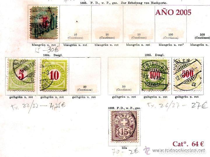 Sellos: SUIZA.- RESTO DE COLECCION PARTE CLASICA EN USADO DE 1843 A 1889. Cat.+ 60.705 €. Año 2005 - Foto 7 - 140787690