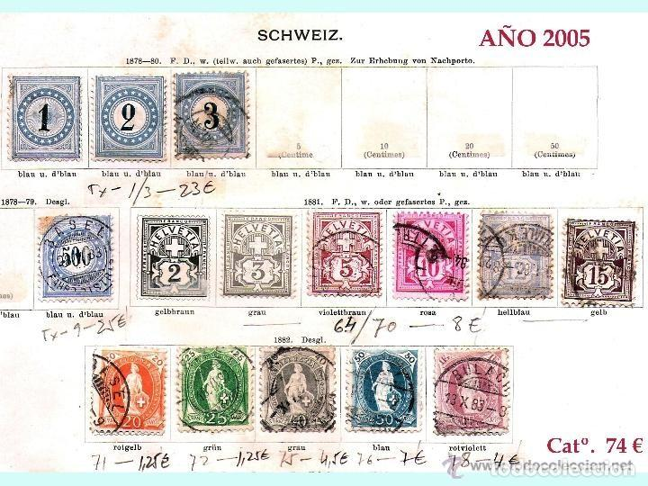 Sellos: SUIZA.- RESTO DE COLECCION PARTE CLASICA EN USADO DE 1843 A 1889. Cat.+ 60.705 €. Año 2005 - Foto 8 - 140787690