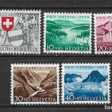 Sellos: SUIZA 1952 MICHEL 570/574 ** MNH - 1/29. Lote 143744830