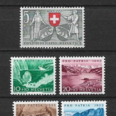 Sellos: SUIZA 1953 MICHEL 580/584 ** MNH - 1/29. Lote 143744918