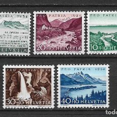 Sellos: SUIZA 1954 MICHEL 597/601 ** MNH - 1/29. Lote 143744974