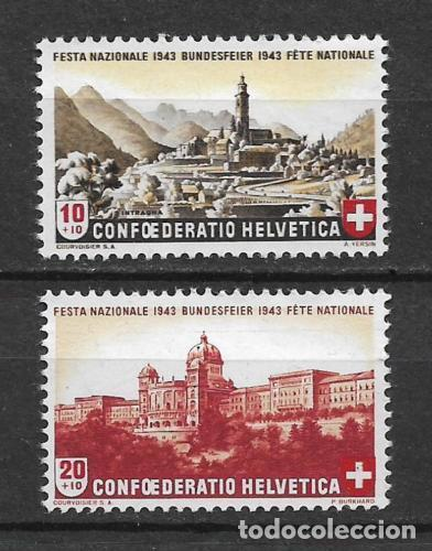 SUIZA 1943 MICHEL 420/421 ** MNH - 1/29 (Sellos - Extranjero - Europa - Suiza)