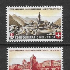 Sellos: SUIZA 1943 MICHEL 420/421 ** MNH - 1/29. Lote 143745342