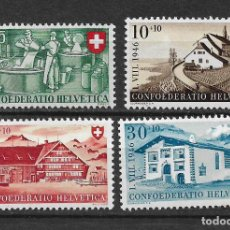 Sellos: SUIZA 1946 MICHEL 471/474 ** MNH - 1/29. Lote 143745478
