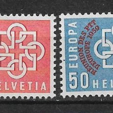 Sellos: SUIZA 1959 MICHEL 681/682 ** MNH - 1/33. Lote 143749798