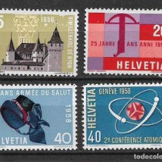 Sellos: SUIZA 1958 MICHEL ** MNH - 1/33. Lote 143750578